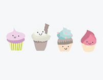 Sweet cupcakes illustration
