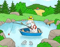 Horse fishing