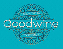 Goodwine font, label, mockup