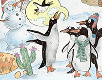 Antarctica - Spread for a Children's Magazine