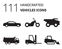 111 vehicle icons all designed in 1 style & UI for QX9