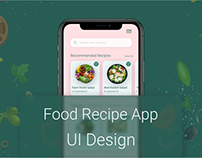 Food Recipe App UI Design