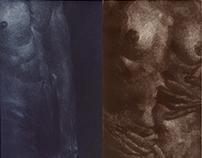 bodies (etching black technique)