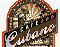 Cafe Cubano Packaging Illustrated by Steven Noble