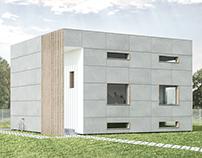 Minimalist cube house