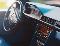 Mercedes W124 CGI/Blender
