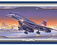 BA Concorde: stained glass merchandise