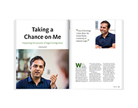 Taking a Chance on Me Feature Magazine Design