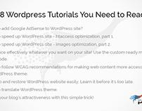 8 Wordpress Tutorials You Need to Read!