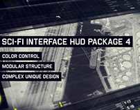 Sci-fi Interface HUD Package 4