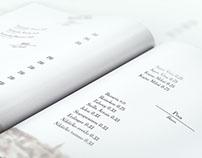 Hotel drink menu