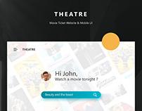 THEATRE - Movie Ticket Website & Mobile UI
