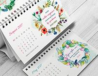 Kalendarz Watercolour