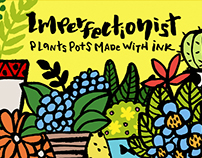 Imperfectionist - Plant pots made with Ink