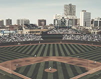 Chicago Cubs Wrigley Field Mobile Wallpaper On Behance