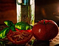 tomaat en olie/tomato and oil www.voedsel-fotografie