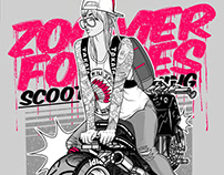 Honda Zoomer girl