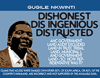 Dishonesty in SA land issue - Political illustration