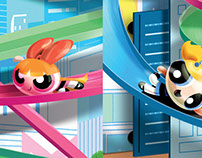 Power Puff Girl Product Concept Illustrations