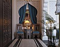 Arabian men seating-ksa