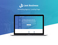 """Landing Page """"Just Business"""""""