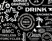 Logos, letterings and print designs 2016