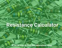 Resistance Calculator app concept