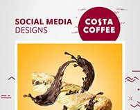 Costa Coffee Social Media Designs