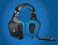 Logitech G430 - Vector Illustration