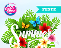 Outdoor Advert. Summer Party GLOBAL TRAVEL