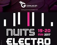Design graphique des Nuits Electro
