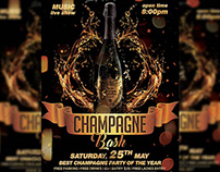 Champagne Bash Flyer - Club A5 Template