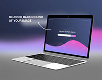 PSD Mockup New MacBook Photorealistic