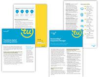 TransUnion Rebranding, brochures, flyers, infographics