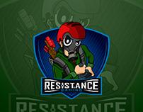 eSports Mascot Logo - Resistance Gaming
