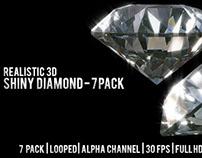 Realistic 3D Shiny Diamond - 7 pack