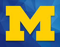 The University of Michigan Graphic (using vector logo)
