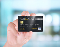 40+ Excellent Credit Card PSD Mockup Templates