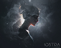 Two versions of the cover design for iOstra band