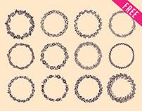 Free Hand Drawn Wreaths IN PSD