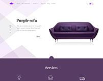 """E-commerce """"Purple Sofa"""""""