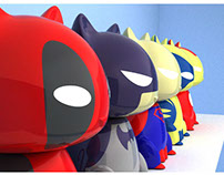 Super Heros...Unite! - Vinyl Toy WIP