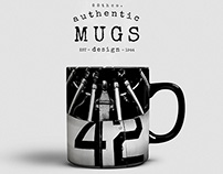 Authentic Retro Mugs Design