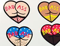 BAD ASS statement stickers