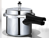 PRESSURE COOKER STAINLESS STEEL RETOUCH