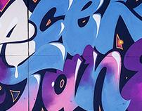 """GRAFFITI Lettering """"PACER X JANE"""""""