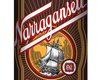 Narragansett Brewing Co. Labels created by Steven Noble