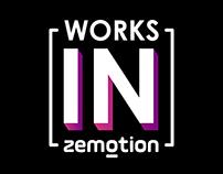 Trabalhos feitos para a empresa Zemotion.