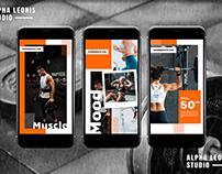 Fitness & Gym Stories Social Media ByAlphaleonis.Std