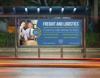 Freight and Logistic Services Billboard Template